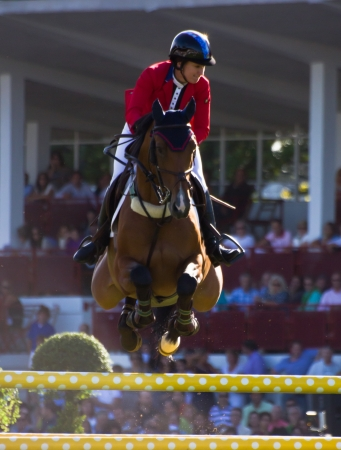 horse jumping competition in Gij�n, Spain  Summer 2012