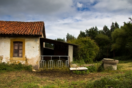 abandoned house in Asturias, Spain photo