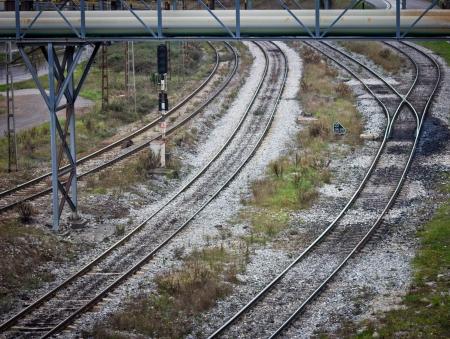 train tracks in Asturias, Spain Stock Photo - 16602526