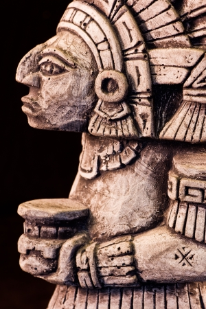 little detail of a mayan sculpture photo