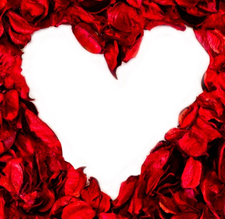 heart made with flower petals Stock Photo - 16726439
