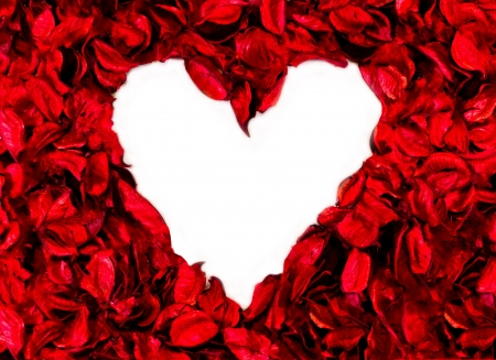 heart made with flower petals Stock Photo - 16726492