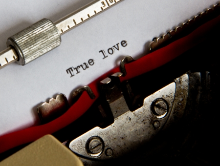 text written with an old typewriter Stock Photo - 16726442