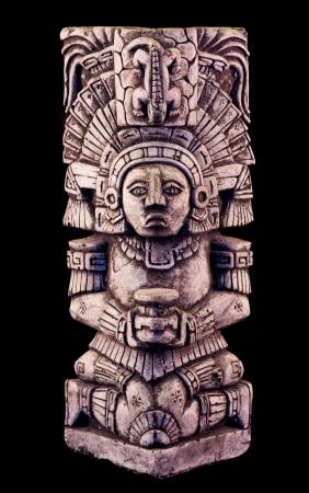 retrato de una escultura maya Foto de archivo