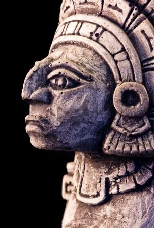 little detail of a mayan sculpture