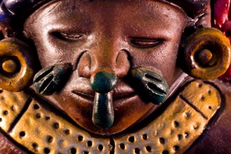 little detail of a mayan sculpture photo