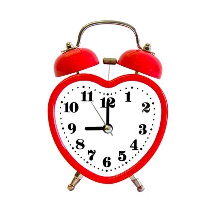 ハート形の目覚まし時計 写真素材