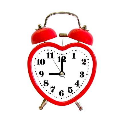 alarm clock with heart shape