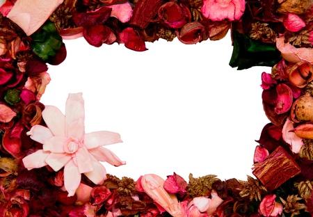 framework made with flower petals Stock Photo - 18340230