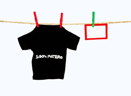 clothesline with a baby t-shirt photo