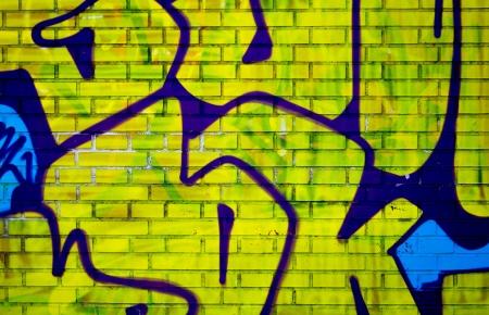 urban graffiti on a brick wall