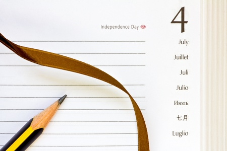 open diary for the July 4th page photo