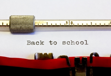 typewriter with the following text: back to school photo