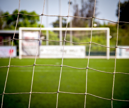detail of a soccer goal photo