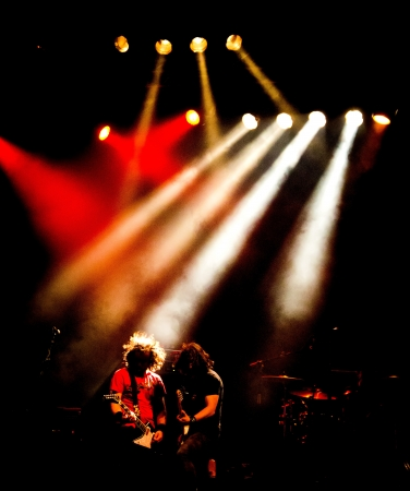 rock concert of a heavy metal group Imagens