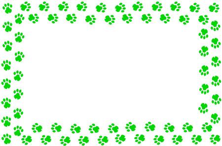 imagen compuesta con huellas de leopardo y fondo plano Foto de archivo