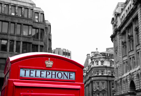 red phone booth in London photo