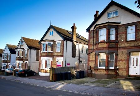 casas t�picas inglesas en el barrio Foto de archivo