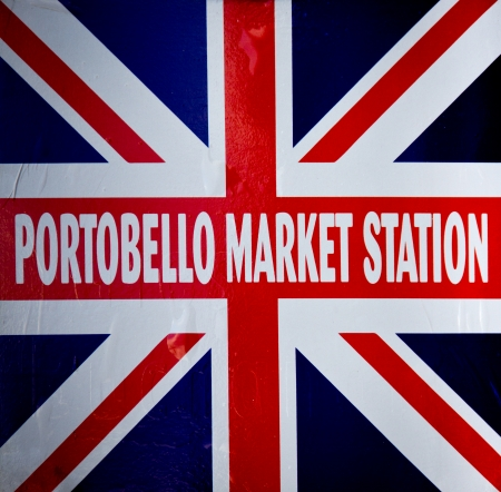 detail of portobello market sign
