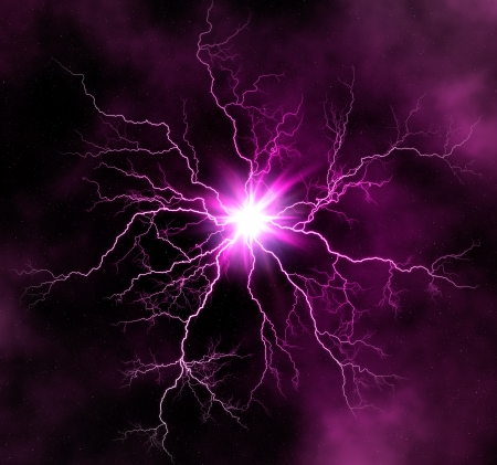 lightnings: Electric lighting effect. Abstract background