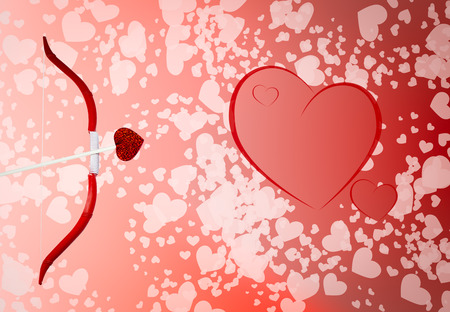 Valentine Hearts Background. Valentines Red Abstract Wallpaper ...