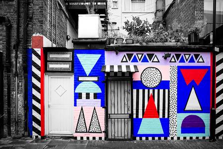 asbo: London, October 2013 - street urban view with graffiti  near Phipp Street.