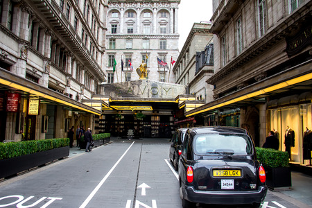 glitzy: London, October 2013 - Entrance of the famous Savoy Hotel