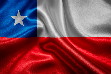 chilean flag: Chilean flag fabric with waves
