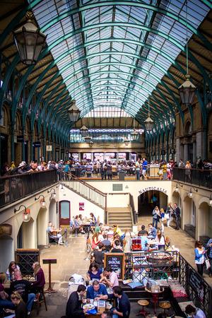 covent garden market: London, June 2014 - View of Covent Garden Market in London, UK.