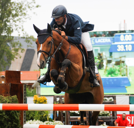GIJON, SPAIN           Aug 2014:  Participants in the  International Jumping Competition CSIO 5 Gijon 2014  Spain, from July 31 to August 4