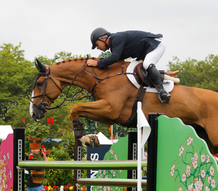 equitation: GIJON, SPAIN           Aug 2014:  Participants in the  International Jumping Competition CSIO 5 Gijon 2014  Spain, from July 31 to August 4