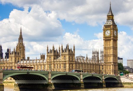 ビッグ ・ ベン、クロック タワー、ウェストミン スターとロンドンの景色