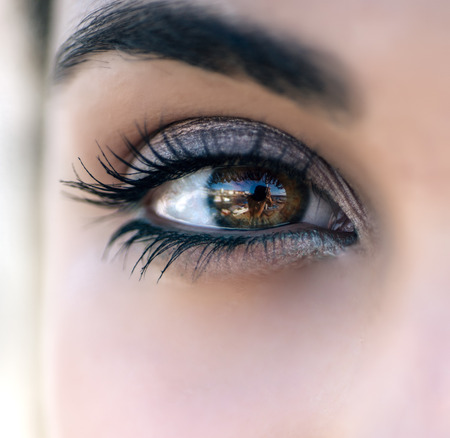 Close up of the eye of a woman Stock Photo