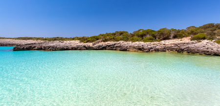 Menorca, Balearic Islands, Spain, view of Talaier Beach in summer Stock Photo