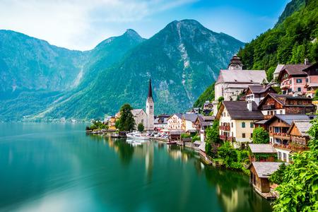 Hallstatt Oostenrijk Stockfoto