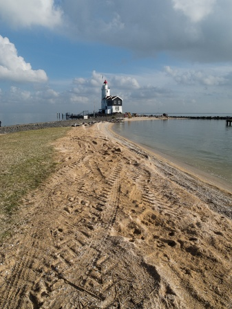 lighthouse on the shore Stock Photo - 12677211