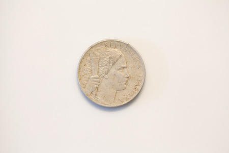 numismatic: cinque lire currency italian coin