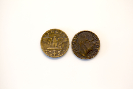 cent: five cent lira coin 1941