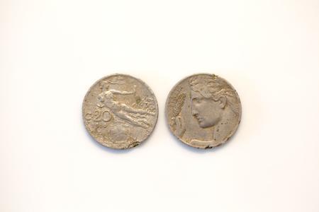 lira: Twenty cent lira coin 1914