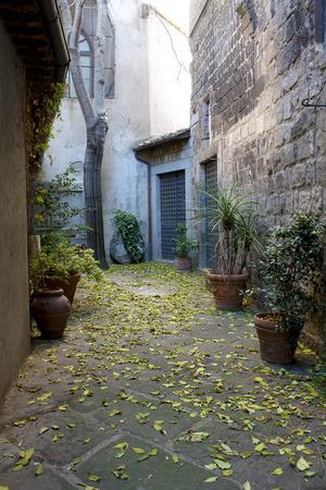 viterbo: City of Viterbo, detail of passageway