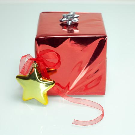 christmas present box: Box present christmas on white background