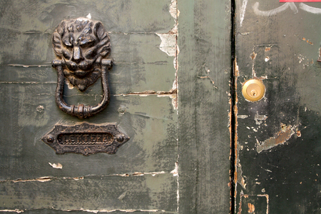 porte ancienne: Old door detail Banque d'images