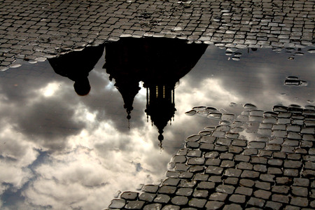 piazza: Piazza Navona Puddles