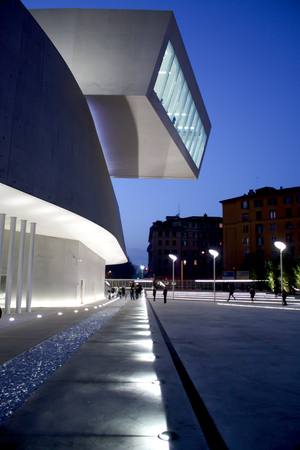ROME, ITALY - NOVEMBER 22, 2009: MAXXI Museum Inauguration in Rome, Italy