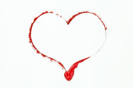 bleeding: Bleeding heart valentine card with copyspace