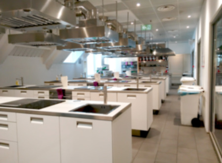 Blurry Kitchen Laboratory interior background Kitchen Seminary Room