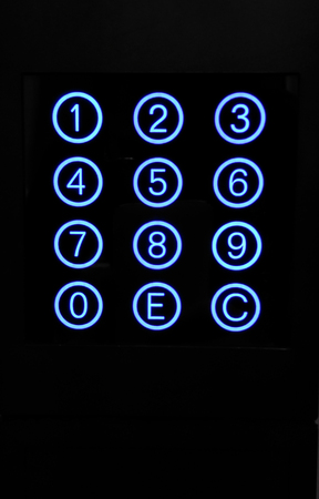numeric: Numeric keypad with blue circular buttons