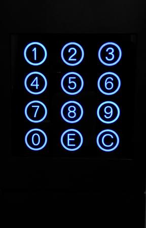 teclado numérico: Teclado numérico con los botones circulares azules