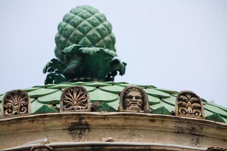 camillo: Dianas Temple details in Villa Borghese Stock Photo