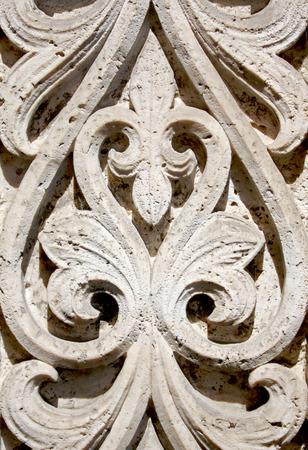 bas relief: Floral bas relief around a church door